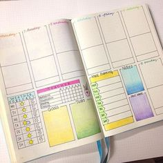 Weekly bullet journal