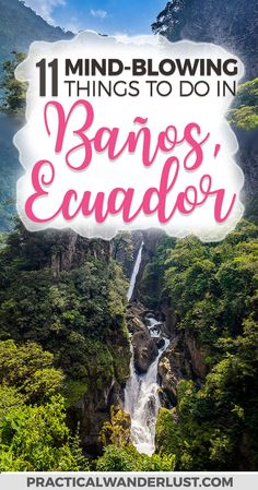 Baños, Ecuador is situated in a valley at the base of an active volcano. This stunning town is famous for heart-pumping adventure sports and relaxing thermal baths. Here's our complete guide to the best things to do in Baños, plus how to get to Baños, where to stay, and what to eat! Ecuador Travel | Ecuador places to visit | Ecuador travel tips | South America Travel #SouthAmerica  via @practicalw
