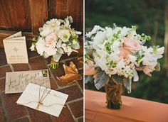 High Society Wedding and Event Planning | Rancho Las Lomas | Inviting Occasion | White and green and blush pink bridal bouquet