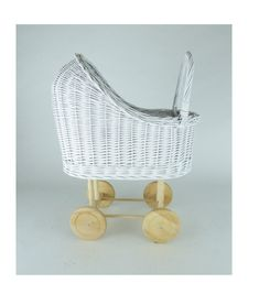 Wiklibox wicker & alder wood doll stroller painted with ecological paint. Many colours available. Baby walker by WIKLIBOX on Etsy Dolls Prams, Bassinet, Wicker, Little Girls, Colours, Paint, Wood, Unique Jewelry, Handmade Gifts
