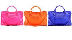 Love a neon handbag !