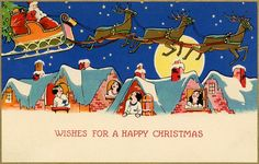 Vintage Greeting Cards ,Christmas ,Valentines, All Occasion. Gay Christmas, Merry Christmas And Happy New Year, Vintage Christmas Cards, Christmas Images, Xmas Cards, Christmas Postcards, Vintage Greeting Cards, Vintage Postcards, Art Deco