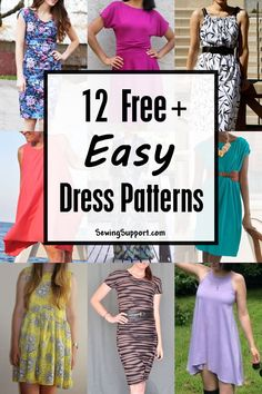 A collection of free and easy dress patterns for women. Simple and easy enough for beginners to sew. A collection of free and easy dress patterns for women. Simple and easy enough for beginners to sew. Simple Dress Pattern, Shirt Dress Pattern, Summer Dress Patterns, Patterns For Dresses, Dress Pattern Free, Easy Sew Dress, Diy Dress, Dresses To Sew, Maxi Dresses
