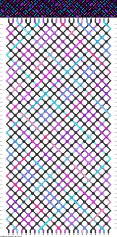 Stained Glass Window friendship bracelet pattern.