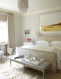 Inspiring 66 Romantic And Tender Feminine Bedroom Design Ideas : 66 Romantic And Tender Feminine Bedroom Design Ideas With White Brown Bed Pillow Blanket Window Curtain Table Chair Carpet Nightstand Chandelier Frame Hardwood Floor---pinned by Annacbella Room, Beautiful Bedrooms, Interior, Home Bedroom, Bedroom Design, Home Decor, Bedroom Inspirations, Interior Design, Feminine Bedroom Design