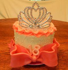 6 inch 2 layer round cake, all… 18th Birthday Cake For Girls, Special Birthday Cakes, 18th Birthday Party, Girl Birthday, Birthday Ideas, Dark Chocolate Candy, Modeling Chocolate, Pink Princess Cakes, Birthday Card Template