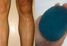 Самодельное мыло для удаления волос