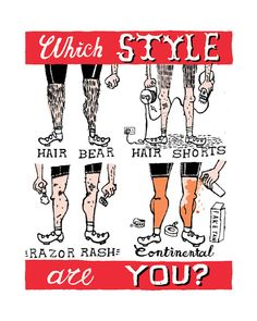 Which  Style Are You?  Cycling Giclee print by chriswatson https://www.etsy.com/uk/listing/99876072/which-style-are-you-cycling-giclee-print?ref=shop_home_active_5