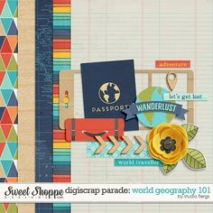 FREE Mini Kit by Studio Flergs / The August 2015 DigiScrap Parade - World Geography 101