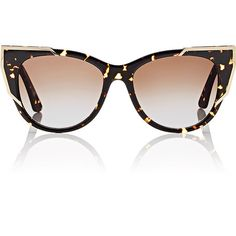 Thierry Lasry Women's Butterscotchy Sunglasses ($525) ❤ liked on Polyvore featuring accessories, eyewear, sunglasses, no color, brown gradient sunglasses, tortoiseshell cat eye glasses, thierry lasry, tortoiseshell sunglasses and tortoise glasses