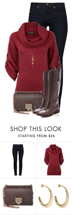 """""""Untitled #2927"""" by sherri-leger ❤ liked on Polyvore featuring J Brand, Dorothy Perkins, Jimmy Choo, Dinosaur Designs, Cotton Candy and Alexis Bittar"""