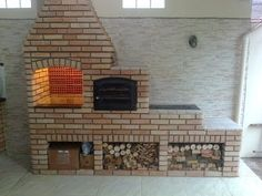 """Vaizdo rezultatas pagal užklausą """"trio fogao a lenha forno de pizza churrasqueira"""" Barbecue Four A Pizza, Brick Bbq, Model House Plan, Outdoor Oven, Vintage Cafe, Wood Fired Oven, Big Houses, Bbq Grill, Outdoor Projects"""