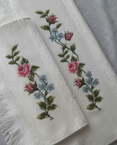 Ethamine towel samples Ethamine towel samples If you like to cross-stitch . 123 Cross Stitch, Cross Stitch Pillow, Cross Stitch Borders, Cross Stitch Flowers, Modern Cross Stitch, Cross Stitch Designs, Cross Stitching, Cross Stitch Patterns, Towel Embroidery
