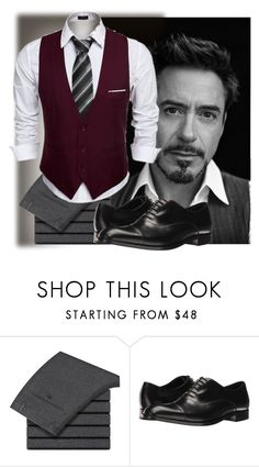 """""""Rob Downey Jr."""" by buddahbar ❤ liked on Polyvore featuring Emporio Armani, men's fashion and menswear"""