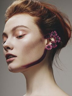 Online Magazine: Hunger TV Beauty Story: Young Blood - Scarlett Burton Photographer: Mike Blackett @blackettphoto Model: Georgie Hobday at Profile Models @georgiehobday Hair: Elvire Roux using Fudge Professional @elvireroux Makeup: Scarlett Burton using MAC Cosmetics @scarlett_burton Nails: Nickie Rhodes @nickierhodeshill MUA Scarlett Burton creates stunning makeup looks embellished with colorful small flowers on model Georgie…