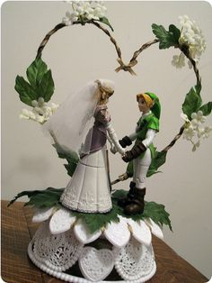 WOW. The Legend of Zelda cake topper!!! Wait a minute....for a wedding? OMG! AWESOME!!!!!!!!!!