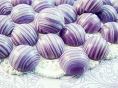 Vintage Purple and White Striped Glass Cabochons Flat Back Stones 11mm Round - 4 by alyssabethsvintage on Etsy