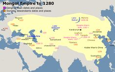 Mongol Empire to 1280
