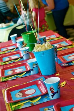 58 Ideas Birthday Party Table Decorations Super Mario For 2019 Super Mario Bros, Super Mario Party, Super Mario Birthday, Mario Birthday Party, 31st Birthday, Boy Birthday, Birthday Party Table Decorations, Birthday Party Tables, Birthday Ideas