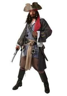 Realistic Caribbean Pirate Costume; just modify a few thrift store goods, and this could be easy.