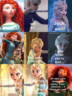 Another jelsa story part 2 / Merida, Elsa, Jack Frost, Anna, Rapunzel, Hiccup /
