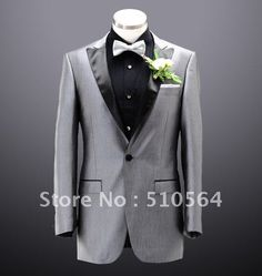 Wholesale Free shipping custom made men tuxedos high quality Groom Suits silk & polyester Wedding Groomsman bright Gray men Suit-in Tuxedos from Apparel & Accessories on Aliexpress.com $139.99