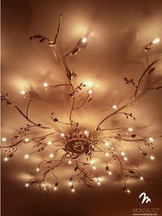 Italian wrought iron lamps - modern - ceiling lighting - los angeles - LogicSun - for the dining room Living Room Lighting, Home Lighting, Outdoor Lighting, Lighting Ideas, Modern Lighting, Party Lighting, Luxury Lighting, Deco Cinema, Room Lights