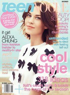 Alexa Chung, US Teen Vogue, November 2011
