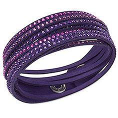 Swarovski Slake purple bracelet Leather slake bracelet with Swarovski crystals, purple. Very good condition Swarovski Jewelry Bracelets Bracelets Roses, Crystal Bracelets, Crystal Jewelry, Jewelry Bracelets, Jewellery, Wrap Bracelets, Stone Jewelry, Swarovski Slake Bracelet, Swarovski Jewelry