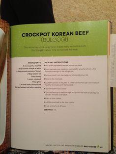 Crockpot Korean Beef (Bulgogi)