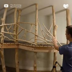 diy home repair How this dad made an indoor treehouse. Tree House Interior, Tree House Decor, Indoor Tree House, Cool Tree Houses, Diy Home Repair, Kids Room Design, Kids House, Play Houses, Diy Home Decor