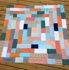 Giant Log Cabin - strip quilt patterns
