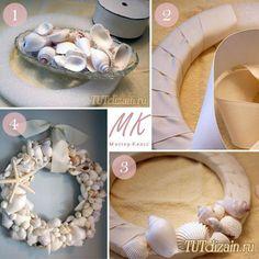 Венок из морских ракушек своими руками + Фото » Дизайн & Декор своими руками