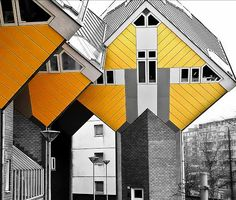 openhouse : square living : architecture : Kubuswoningen / Cube House : Piet Blom : rotterdam netherlands