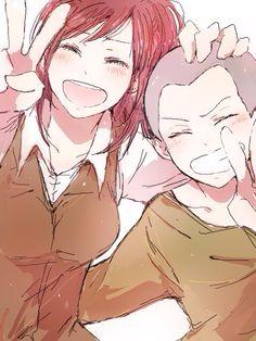 Shingeki no Kyojin - Connie Springer, Sasha Braus Ereri, Armin, All Anime, Manga Anime, Anime Couples, Cute Couples, Fanfiction, Connie Springer, Humanoid Creatures
