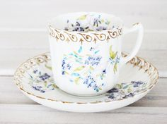 Vintage Teacup and Saucer Cup - Collecting teacups may be my newest hobby.