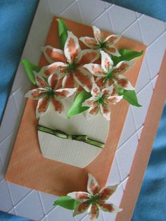 Handmade Lily Card made by Sarah Bell