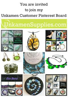 I would love to have YOU on my Unkamen Customer Pinterest Board? We need to follow each other and then I can send you an invite. You are welcome to pin any Unkamen Creation up to once a day. Here it the link to the board:  http://www.pinterest.com/unkamensupplies/unkamen-customers/