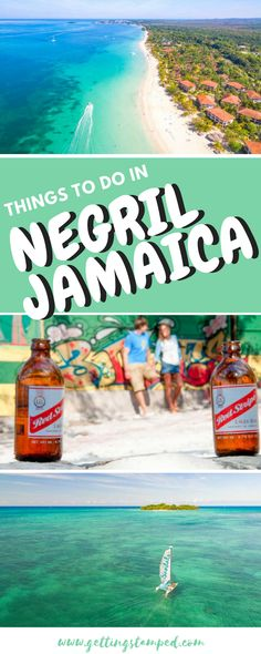 Whether you're a beach bum or an adventurer, there's no shortage of great things to do in Negril #Jamaica. Located on the far western tip of Jamaica, Negril has stretches of long white sand beaches and also rocky cliffs, both surrounded by clear calm waters || Getting Stamped - Couple #Travel & #Photography #Blog  #HallmarkChannel #sweepstakes @hallmarkchannel Visit Jamaica, Jamaica Vacation, Jamaica Travel, Jamaica Honeymoon, Jamaica Jamaica, Vacation Spots, Beach Trip, Beach Bum, Ecuador
