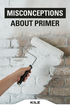 """On our new series """"Ask the Pro,"""" KILZ® Product Manager John Golamco discusses seven often-believed misunderstandings about primer. Ready to learn more? Let's get rolling! Painting Trim Tips, Diy Painting, Do It Yourself Design, Do It Yourself Baby, Home Improvement Projects, Home Projects, Home Crafts, Painted Brick Fireplaces, Paint Prep"""