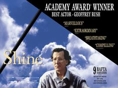 One of my Favourie movies at the moment; cant get over it. Just watching this makes me love Geoffrey Rush more and more, he really did a good job as David Helfgott as an adult. Thank you David Helfgott for your amazement and you dedication to inspire and show the world your talent; Thank you :D