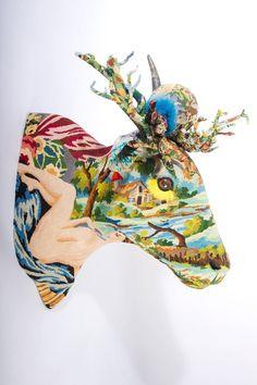 Frédérique Morel tapestry sculpture