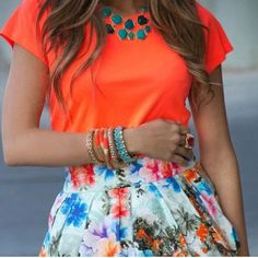 .So Colorful / Love this outfit.♥ ♥