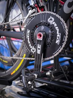 Bike modifications for Paris-Roubaix | Rotor  Q Rings on the Cervelo spare bikes. Notice the Garmin Vector pedals without the pods. New design? Or are they simply not using the power functionality?
