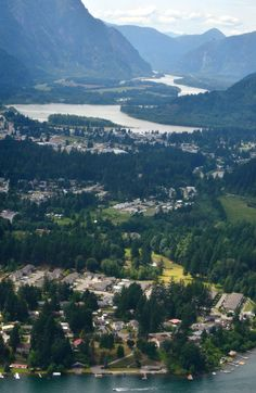 View West from air above Kawkawa Lake in Hope BC. Photo by Angela Coughlin. www.HopeBC.ca