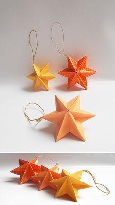 Tutorial on Origami Dominanta Star designed by Ekaterina Lukasheva . This is a great model and very easy to fold! This Liberty Origami Star is easy an. Origami Christmas Star, Origami Ornaments, Origami And Kirigami, Origami Fish, Christmas Origami, Paper Ornaments, Diy Origami, Origami Tutorial, Christmas Paper