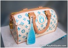 LV Purse/Bag Cake and Hpnotiq Drink by Cakes.KeyArtStudio.com, via Flickr