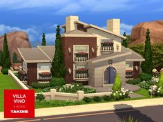 The Sims Resource: Villa Vino residential house by Takdis • Sims 4 Downloads