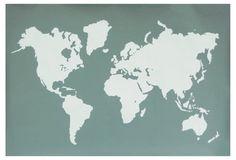 Gray Modern Map