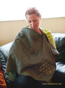 How to Make a Cute Nursing Cover {Nursing Cover Tutorial}   BreastfeedingPlace.com #nursingcover #tutorial #diy #sew